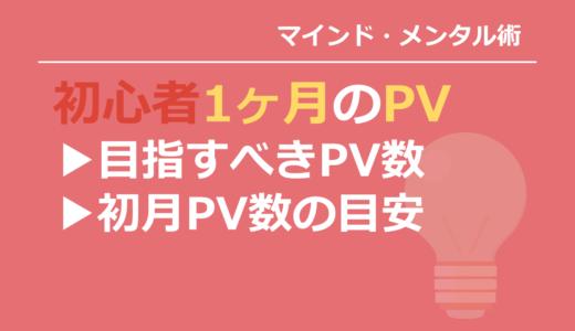 ブログ初心者の目指すPV数は?始めたて1ヶ月のアクセス数の目安